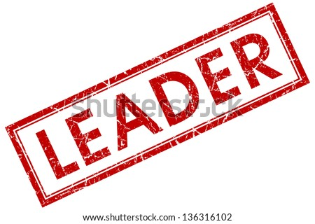 leader stamp - stock photo