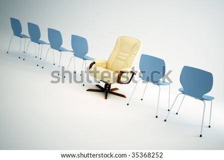 Leadership chair - stock photo