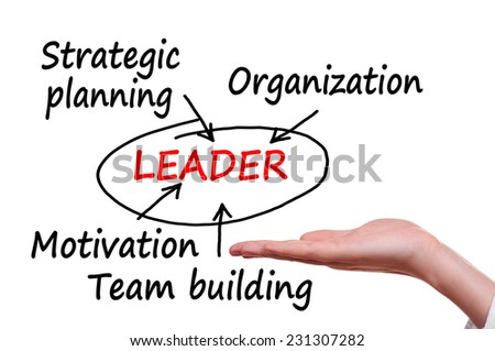 Leadership concept isolated on white background - stock photo