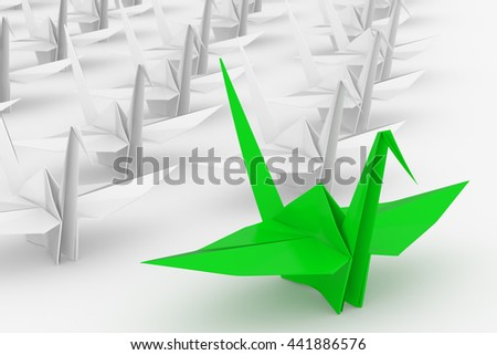 Leadership concept. Isolated on white background.  3d render. - stock photo