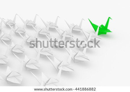 Leadership concept. Isolated on white background.. 3d render. - stock photo