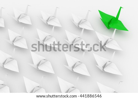Leadership concept. Isolated on white background. I. 3d render. - stock photo