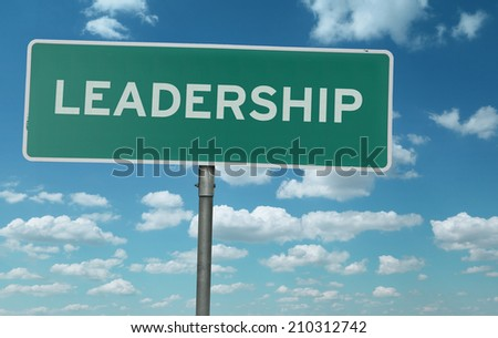 Leadership creative sign - stock photo