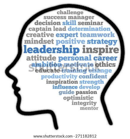Leadership in word cloud concept - stock photo