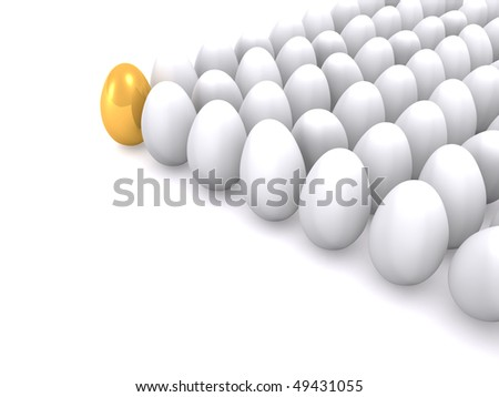 leadership of eggs. 3d