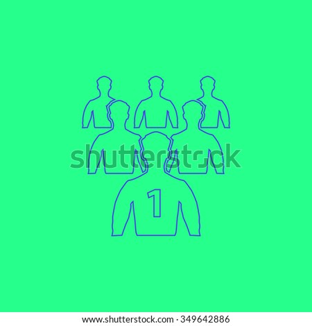 Leadership. Simple outline illustration icon on green background