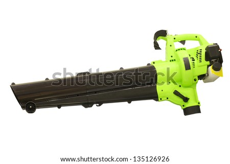 Leaf blower under the white background - stock photo