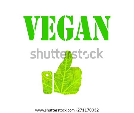 leaf hand - like vegan  - stock photo