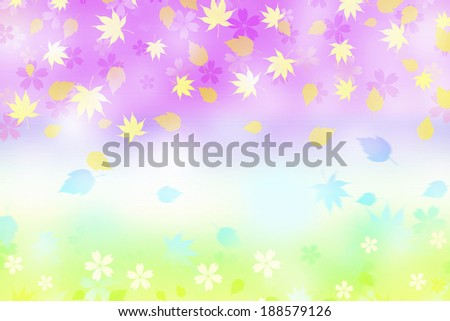 Leaf pattern and flowers
