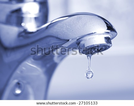 leaking faucet - stock photo