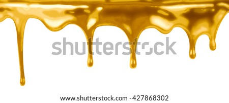 leaking gold isolated on white 3d illustration - stock photo