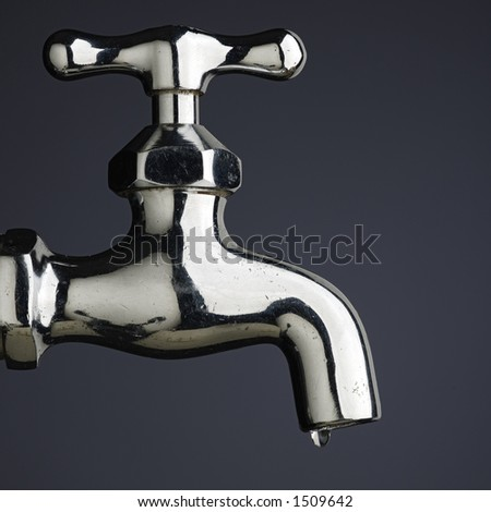 leaking tap - stock photo