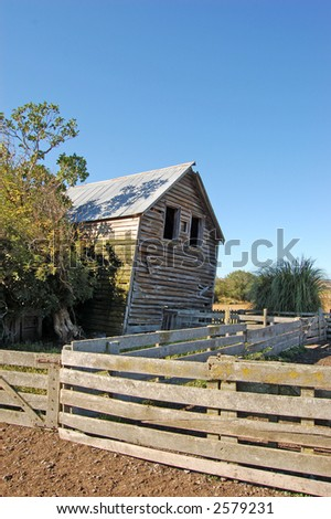 leaning shed manaia nz stock photo royalty free 2579231 shutterstock