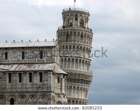 Leaning Tower of Pisa and Cathedral - one of a few most recognizable buildings in the world