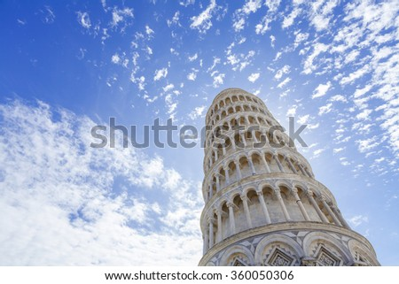 Leaning tower of Pisa ,Tuscany Italy - stock photo