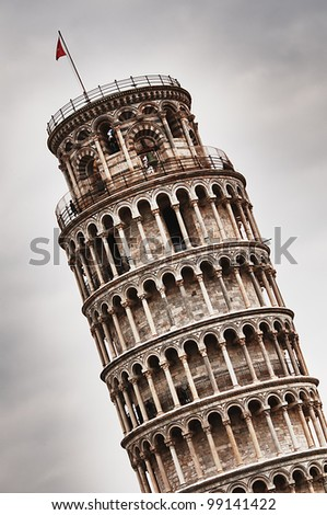 Leaning Tower Pisa - stock photo
