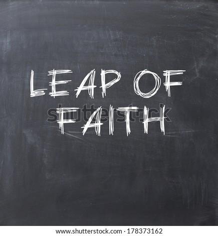 leap of faith - stock photo