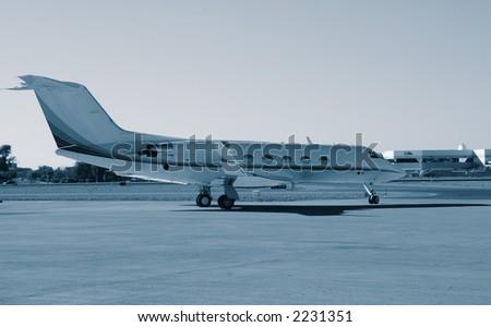Learjet - stock photo