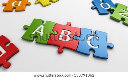 learn & ABC - stock photo