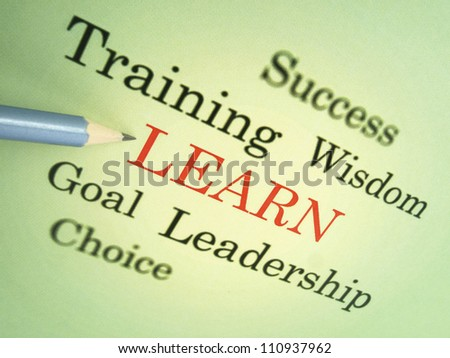 Learn and grow - stock photo