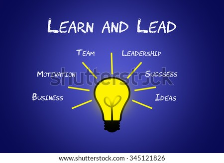 Learn and Lead - Leadership business concept