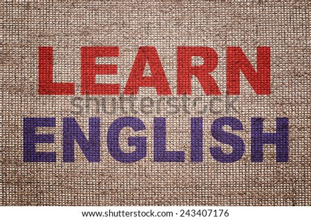 Learn English. Education concept. - stock photo