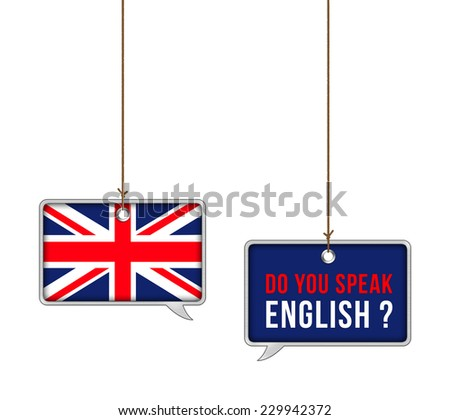 Learn English - illustration concept - stock photo