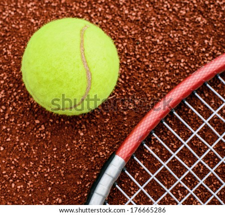 Learn tennis concept - stock photo
