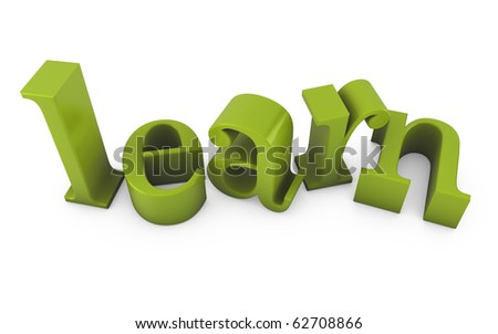 learn text - stock photo