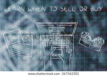 learn when to sell or buy: online trading user with wallet and stats on stock market data