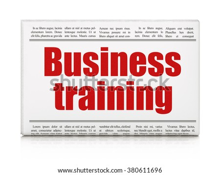 Learning concept: newspaper headline Business Training - stock photo