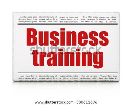Learning concept: newspaper headline Business Training - stock photo