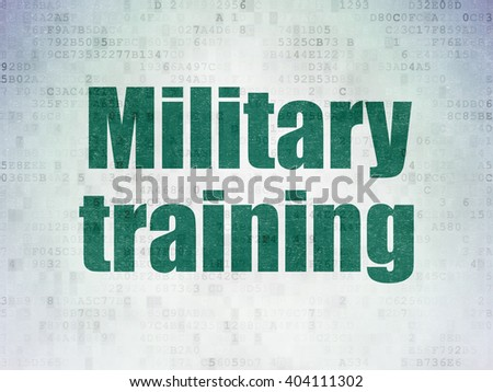 Learning concept: Painted green word Military Training on Digital Paper background - stock photo
