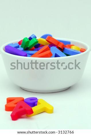 Learning the alphabet - stock photo