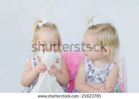 Learning to Share - stock photo