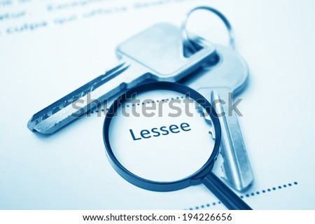 Lease Agreement For Lessee Signing,For Real Estate Concept Background - stock photo