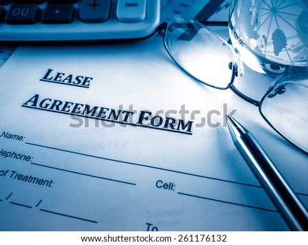 lease agreement form - stock photo