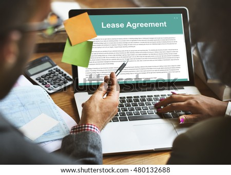 Lease Renting Contract Residential Tenant Concept Stock Photo
