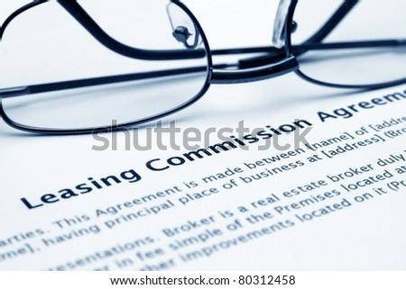 Leasing commission agreement - stock photo