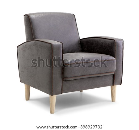 Leather Armchair - stock photo