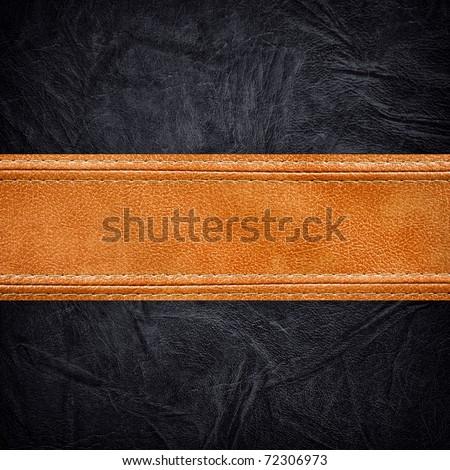 leather background - stock photo