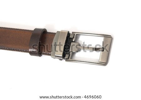 Leather belt isolated over white