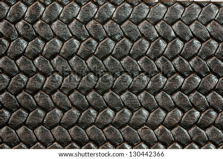 Leather belt macro - background, texture - stock photo