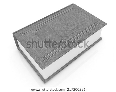 Leather book  on a white background