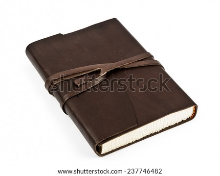 Leather brown notebook