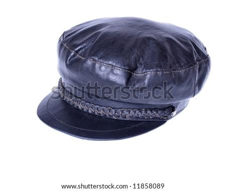 Leather Cap - stock photo