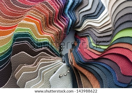 leather color samples - stock photo