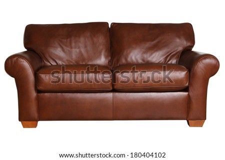 leather couch - stock photo