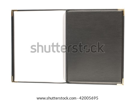 Leather cover - stock photo