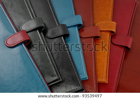 Leather covers - stock photo